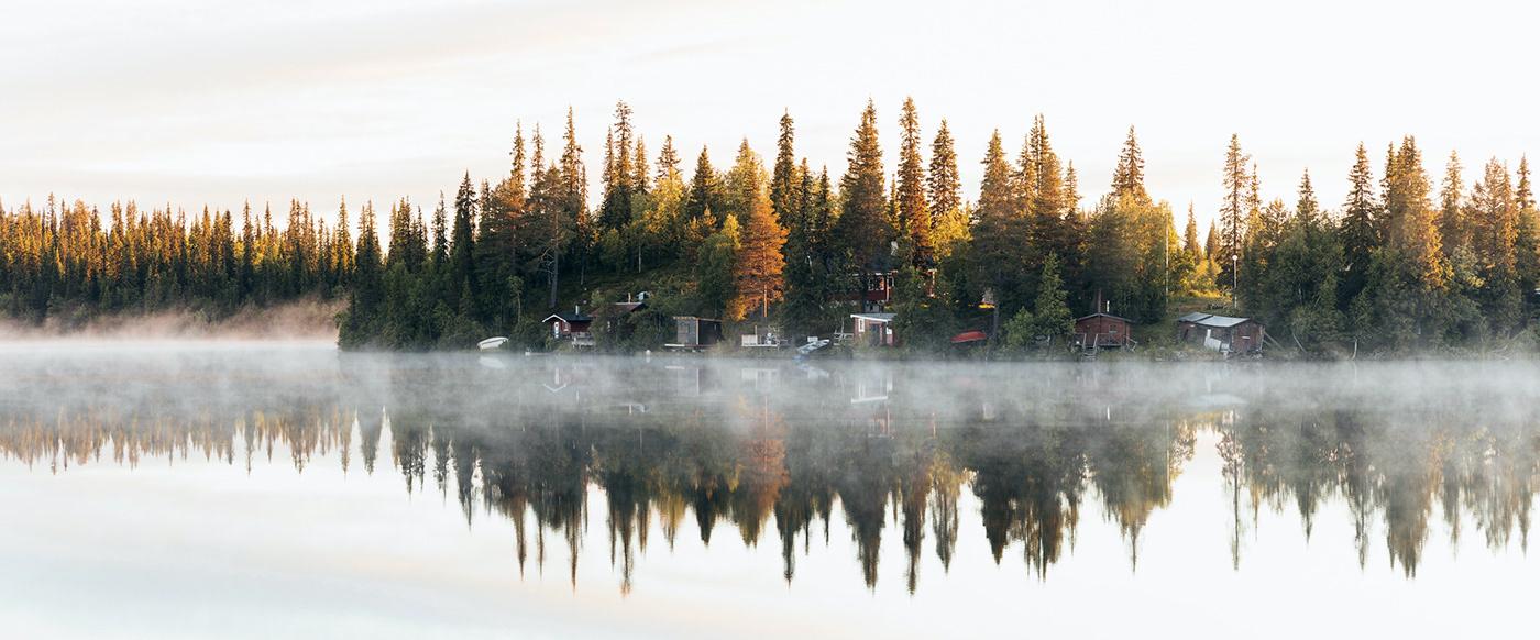 Landscape Midnight Sun Photography  quiet Scandinavia schweden summer Sweden Travel vanlife
