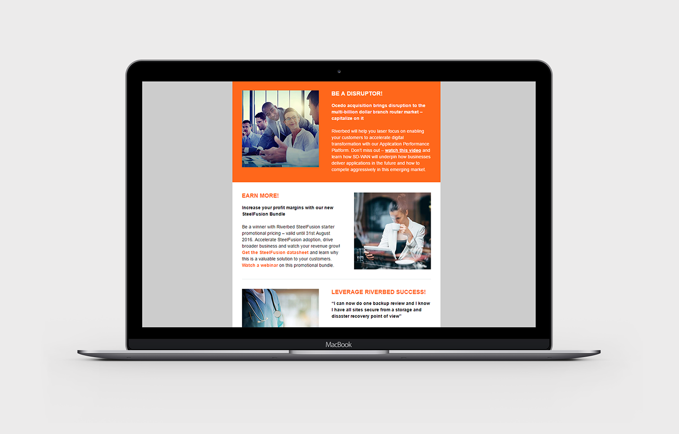 Riverbed Newsletter (Responsive Email) on Behance