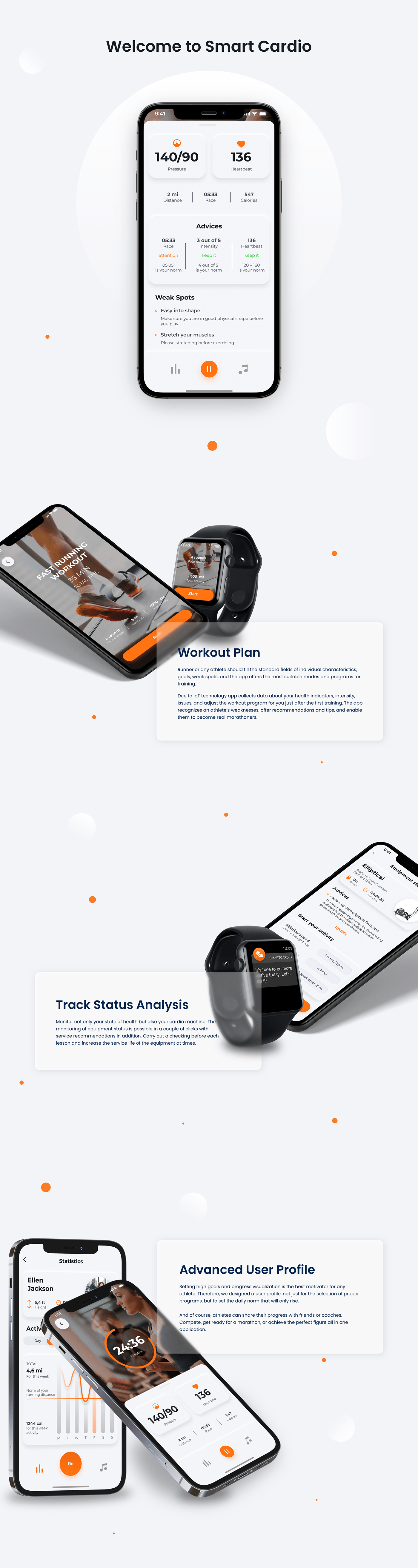 android fitness ios IoT Mobile app apple watch mobile design Prototyping Web Design