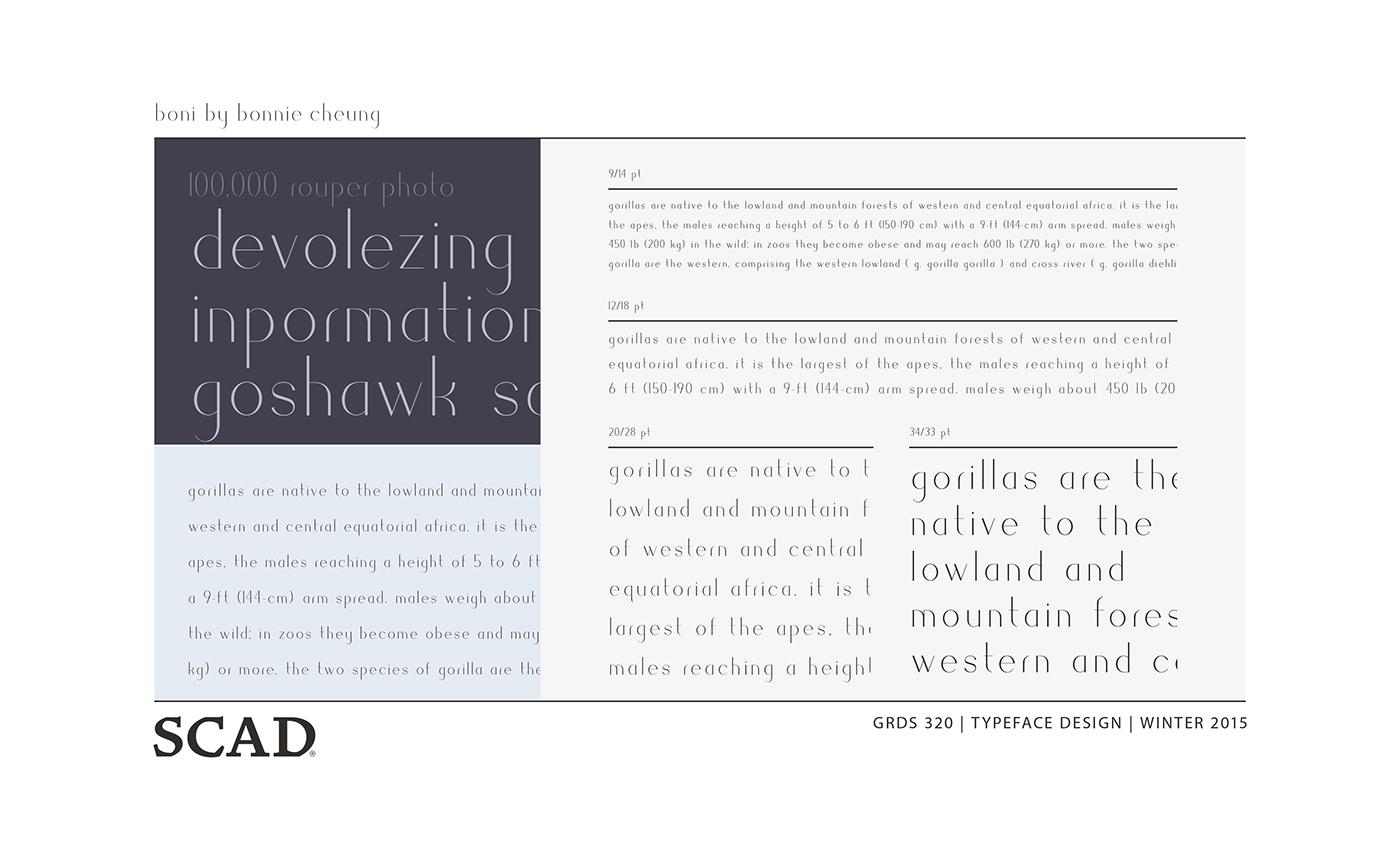 Boni – Typeface Design on Behance