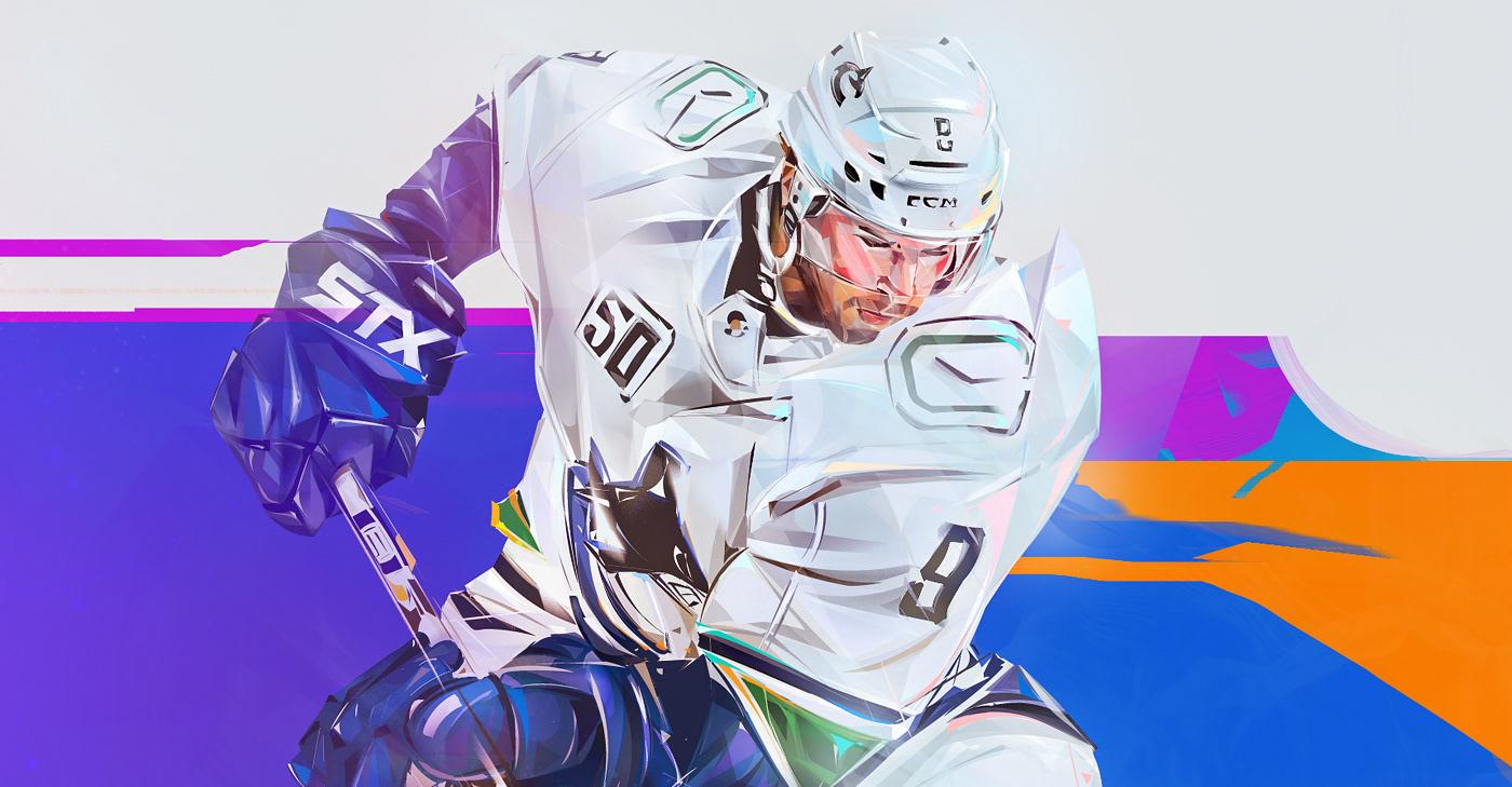 Image may contain: hockey, ice skating and sports equipment