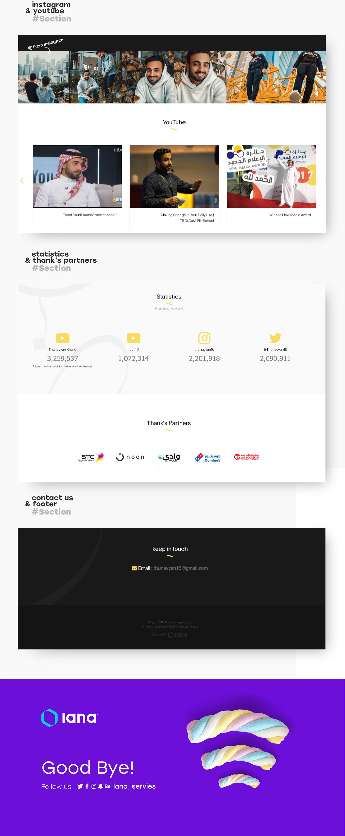 youtube UI ux Website personal interaction Web Design  clean