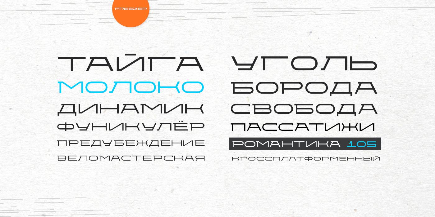 Cyrillic font Typeface freezer Logotype type stabile display font sans-serif grotesque