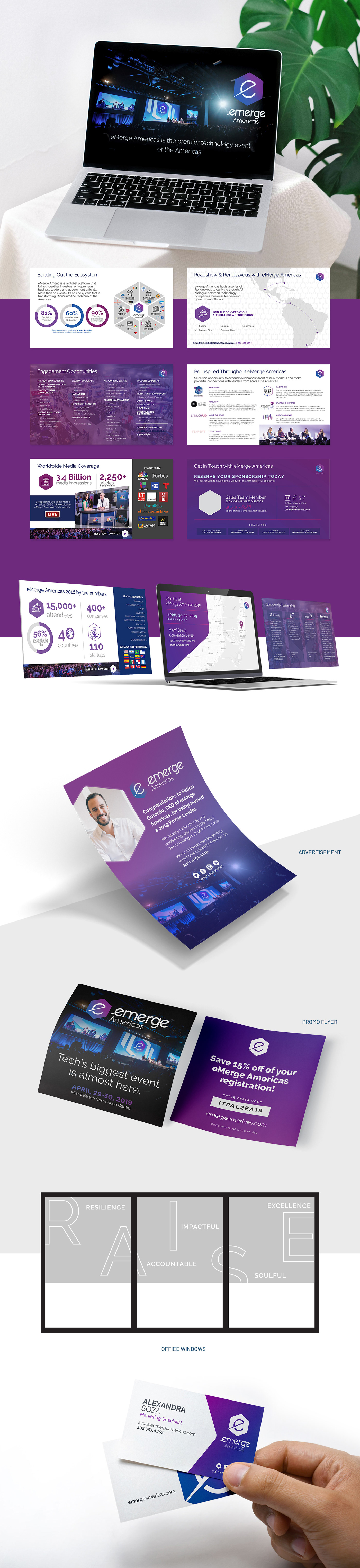 advertisement Collateral conference deck emerge flyer presentation promo tech