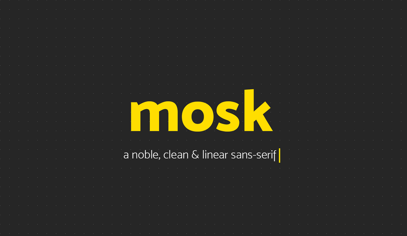 Mosk Typeface Free On Behance