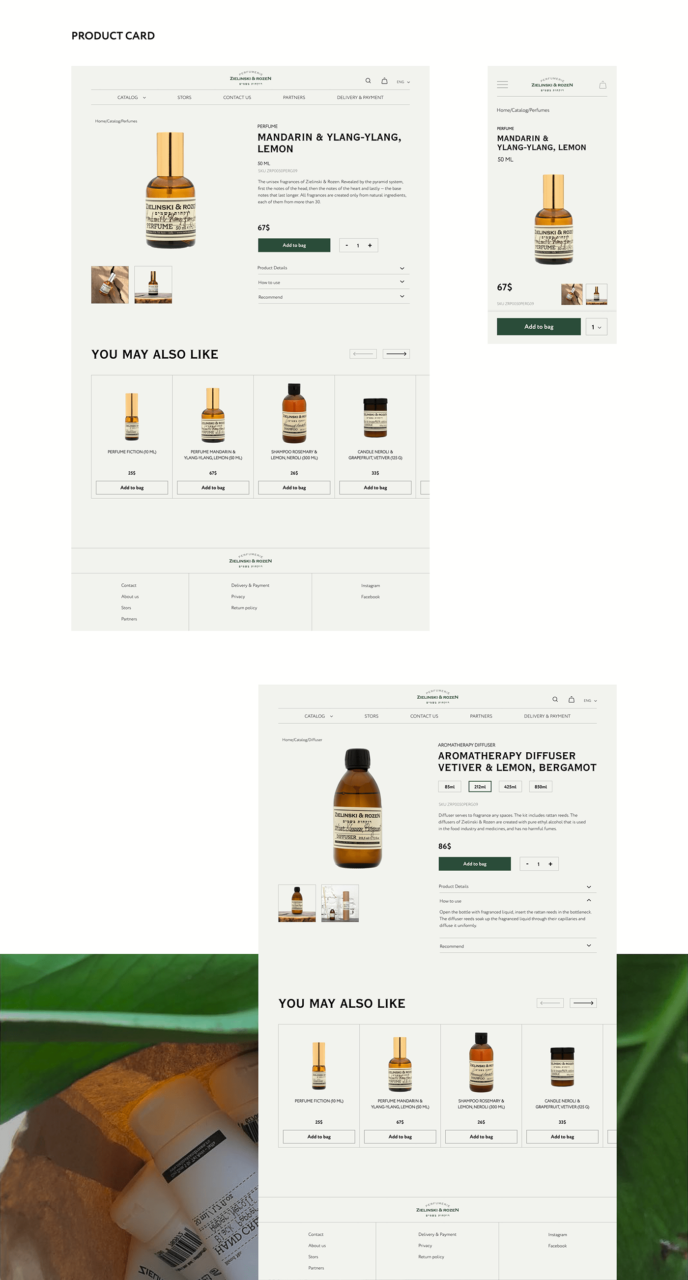 beauty cosmetics Ecommerce healthy makeup organic redesign ux/ui Web Design  Website