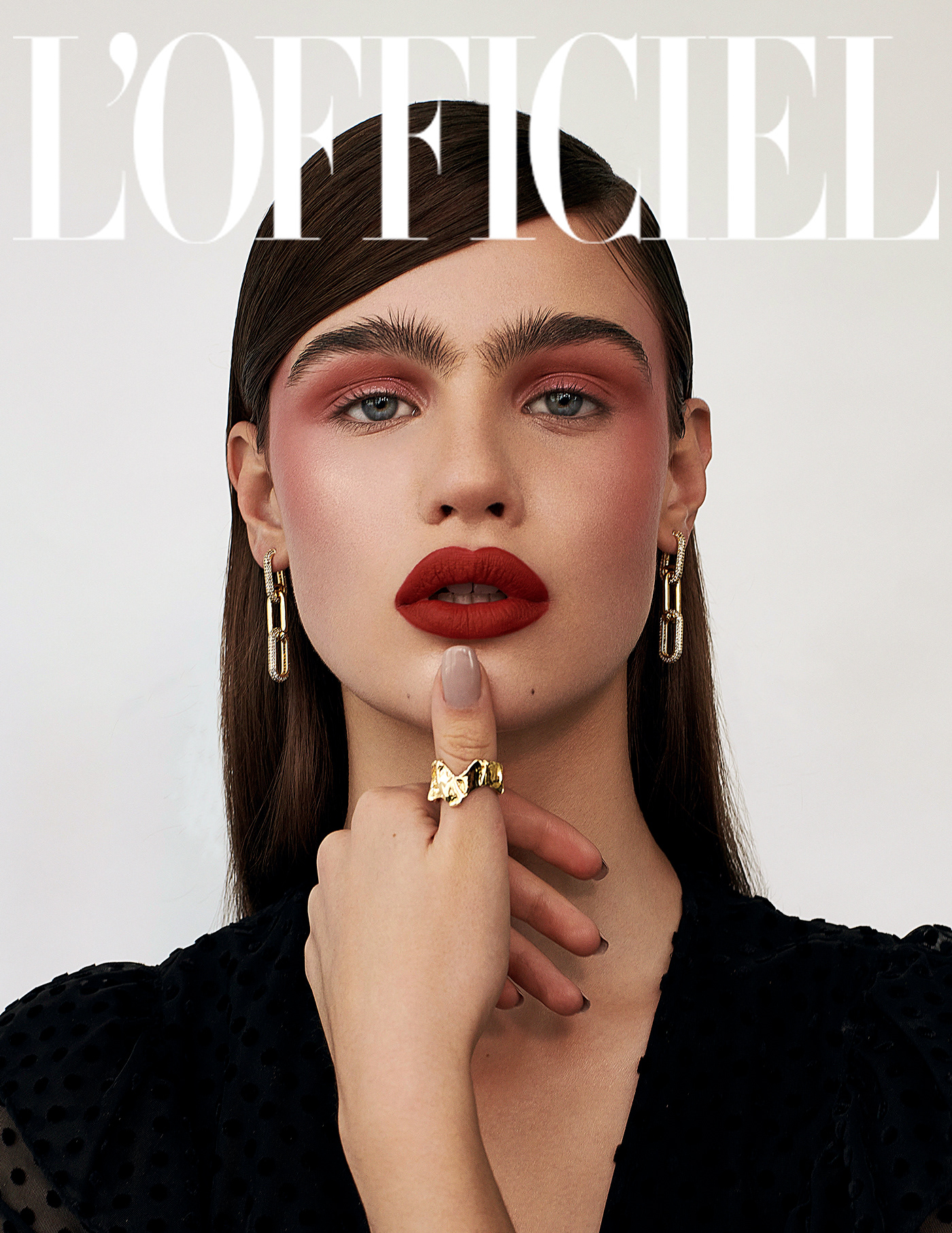 Beauty editorial for L'Officiel Magazine