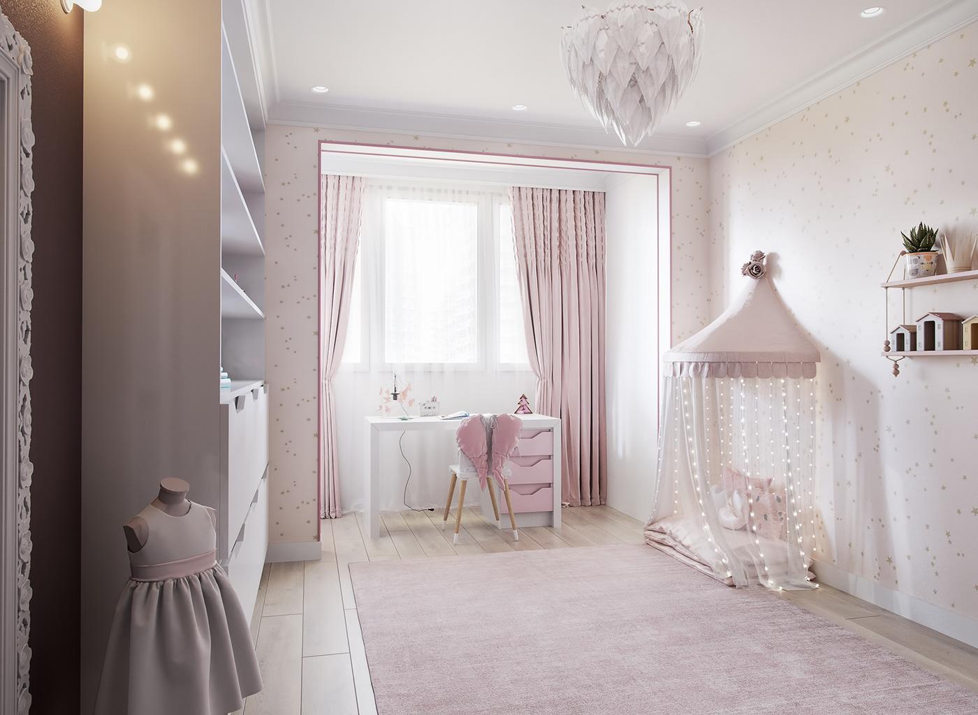 有設計感的18款粉紅色房間欣賞