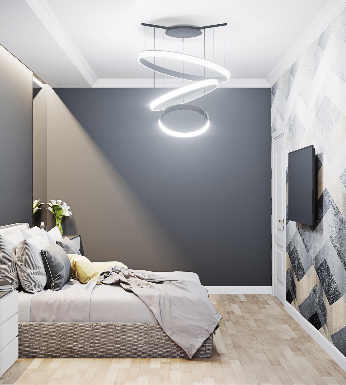 corona 3dsmax design Interior bucharest decor apartment scandinav contemporan