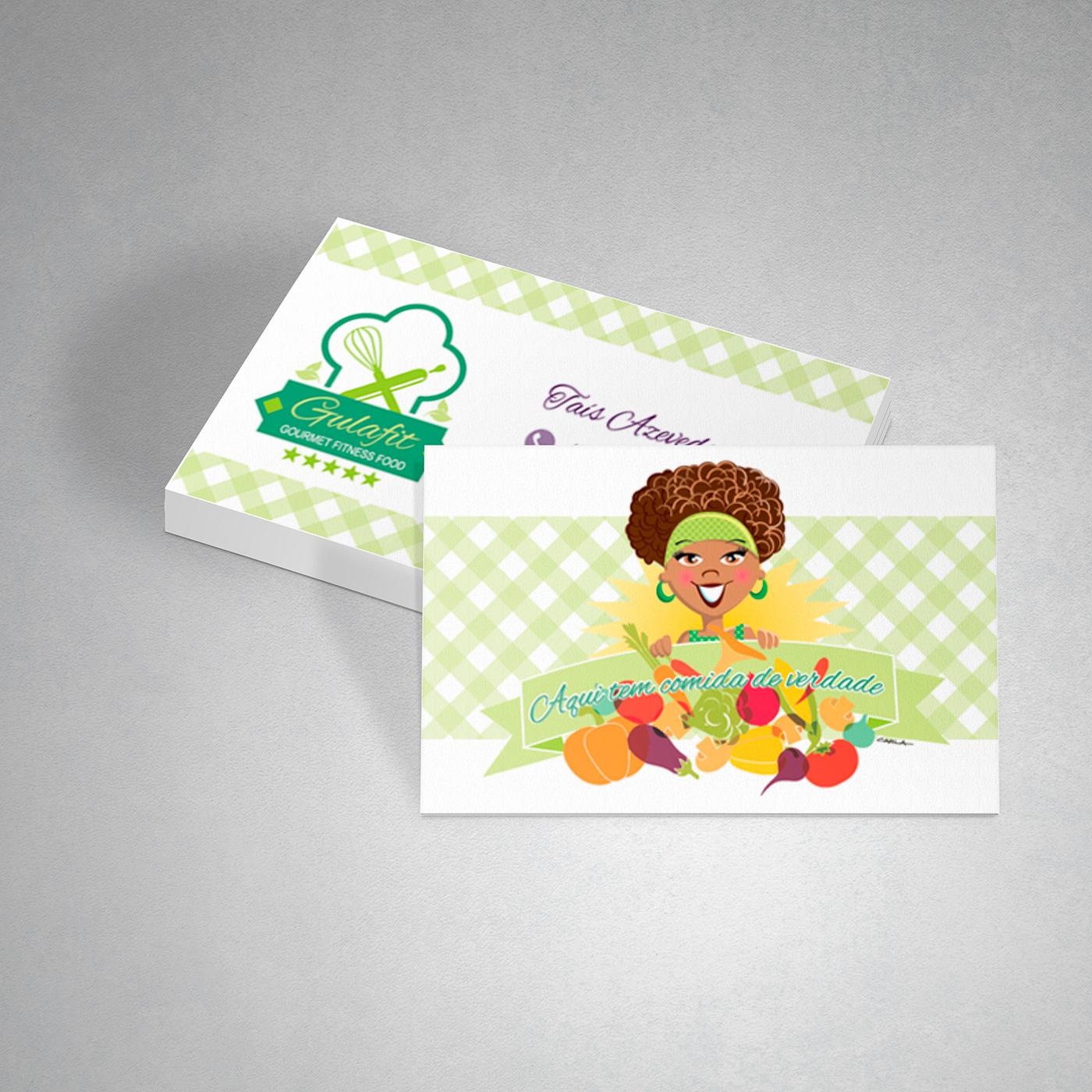 Cartão de Visita logo mascote identidade visual Rótulos embalagens Cardápios Redes Sociais