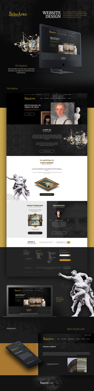 art artwork Web Webdesign Web Design  vintage Dark and Gold gold
