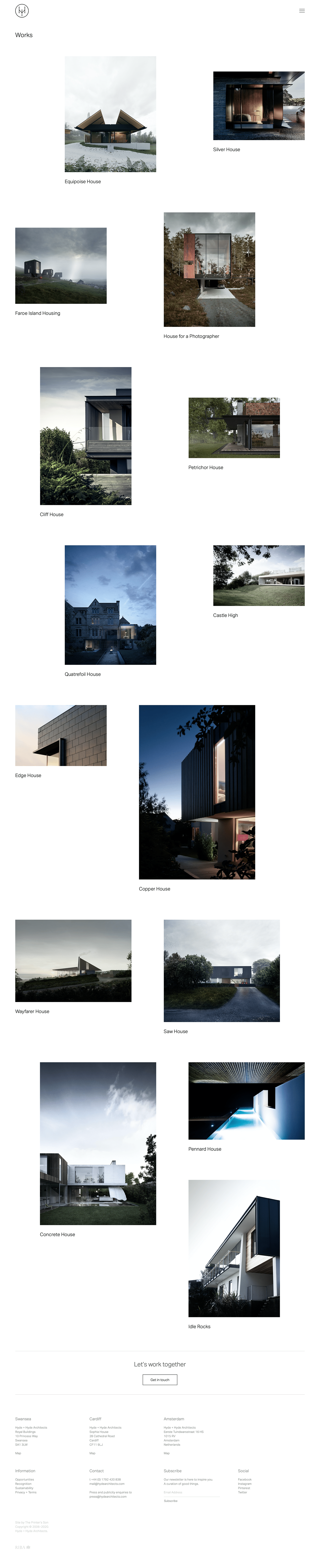 Hyde + Hyde + Hyde architects architecture squarespace grid based The Printer's Son hyde architects