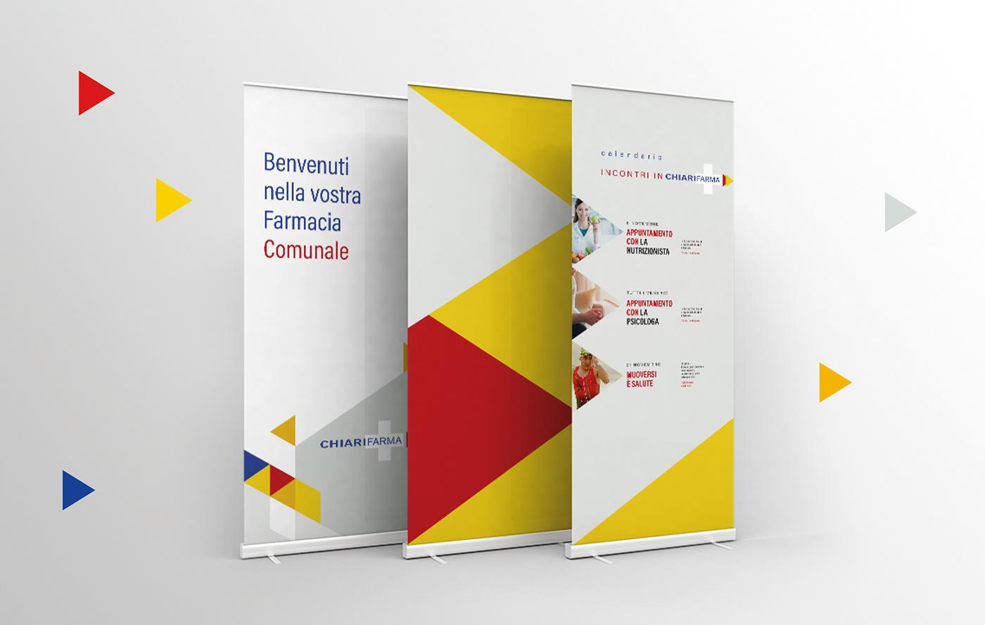 farmacia salute benessere branding  Interior design graphic medico medicina