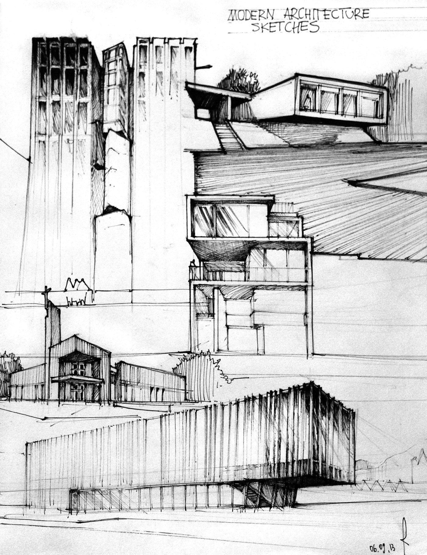 Modern Architecture Sketches modern architecture on behance