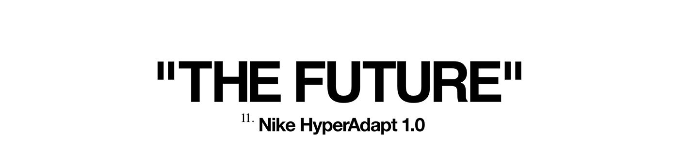 Nike off-white HyperAdapts future Fashion  Swoosh virgil jordan sneakers 3D