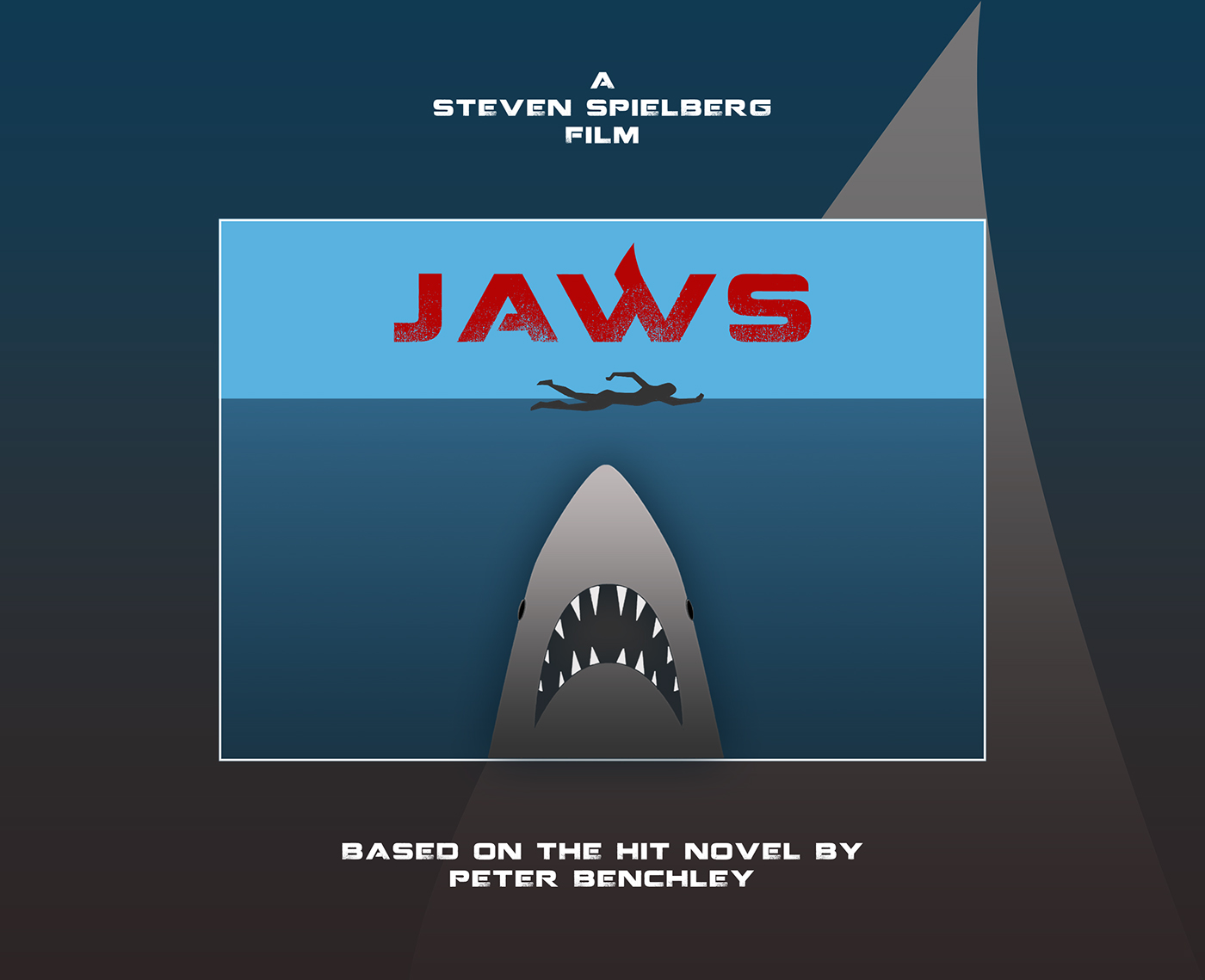 JAWS Minimal Tribute Poster + New Logo on Behance