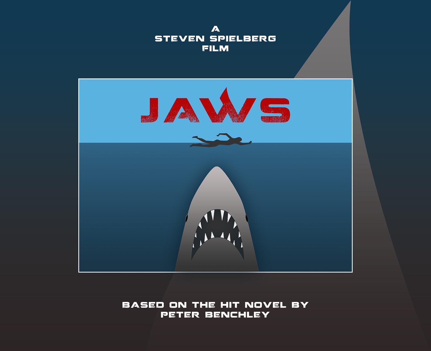 JAWS Minimal Tribute Poster + New Logo on Behance