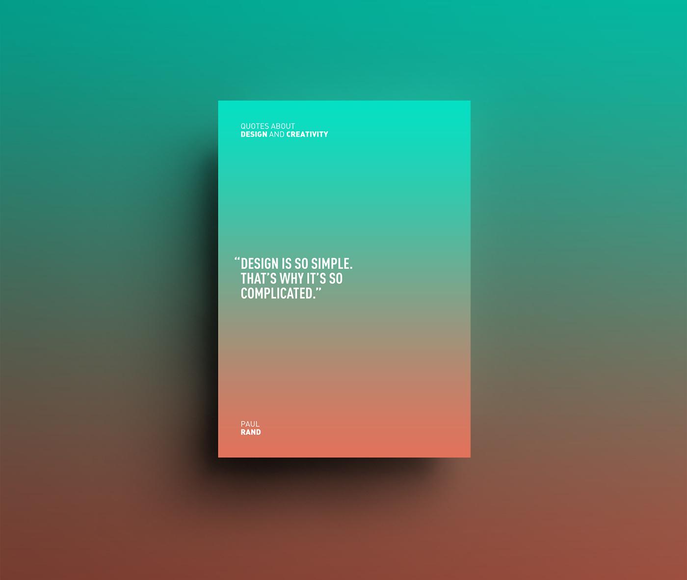 Adobe Portfolio design poster posters gradient colors color Shades visual Layout minimal fresh Quotes quote designquotes