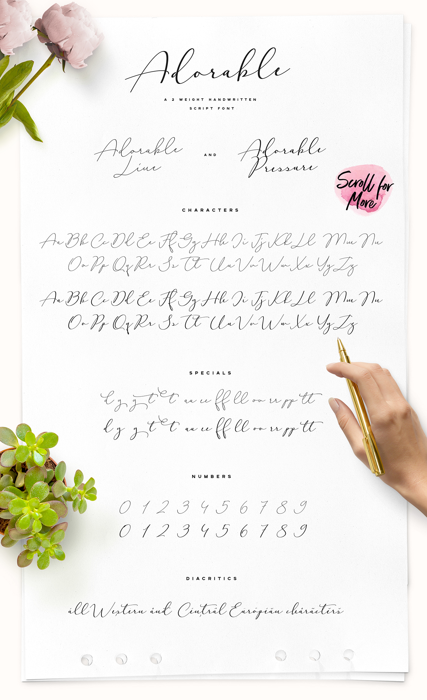 Adorable Handwritten Script Font On Behance