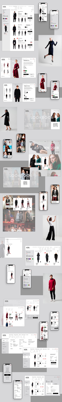 clothes concept e-commerce Fashion  Minimalism redesign shop store UI ux