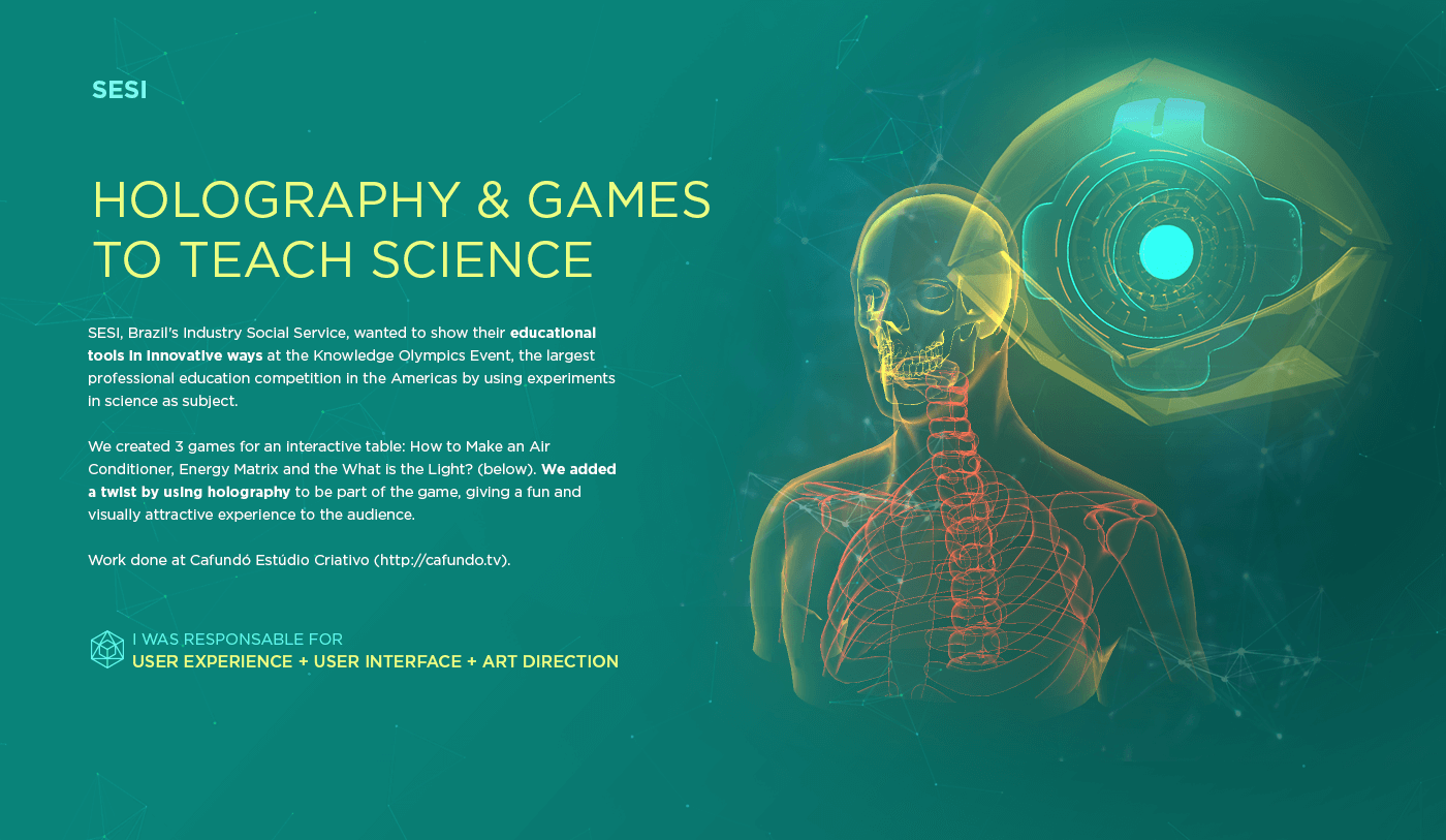 holography hologram game science Education industry interaction scientific knowledge Interface
