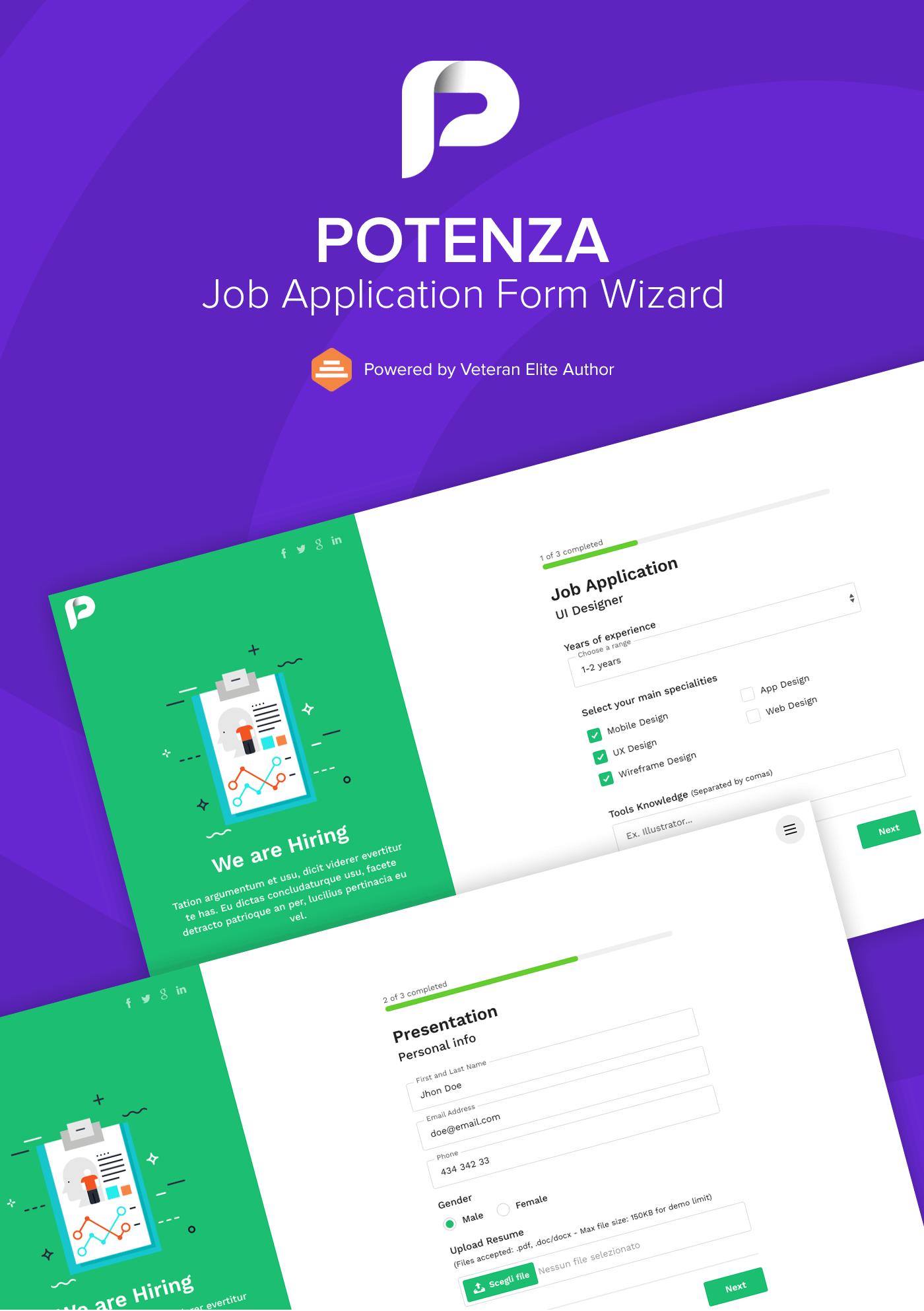 Job Application Form Wizard