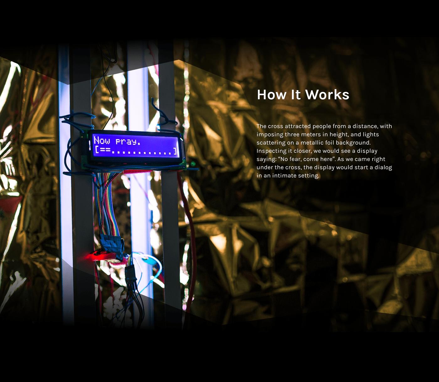 Arduino cross interactive light design