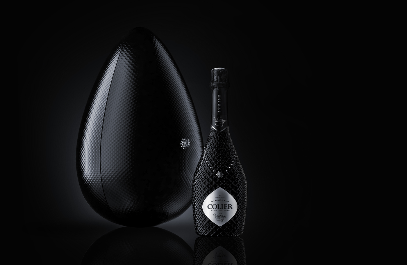 Champagne sparkling wine Pack package bottle business women Collection Cocoon handmade bottle wine colier collar jewelry brandbook winery