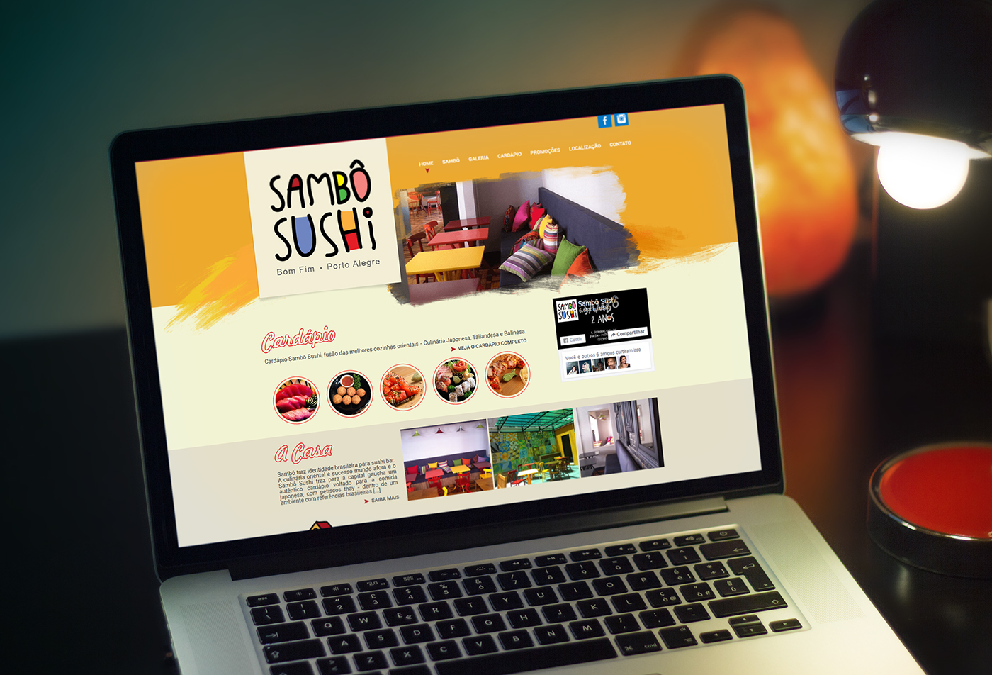 Sambo Sushi porto alegre cardápio restaurante restaurant menu Food  comida Brazil Website colors