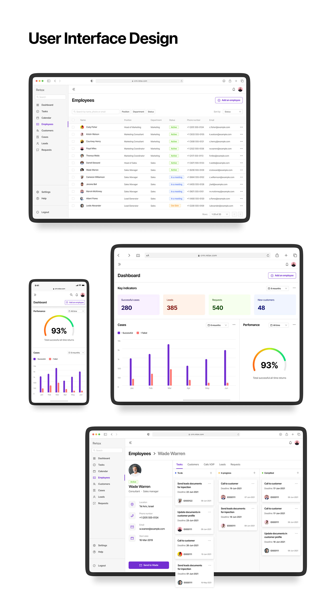 app CRM dashboard finance Fintech ux/ui Web