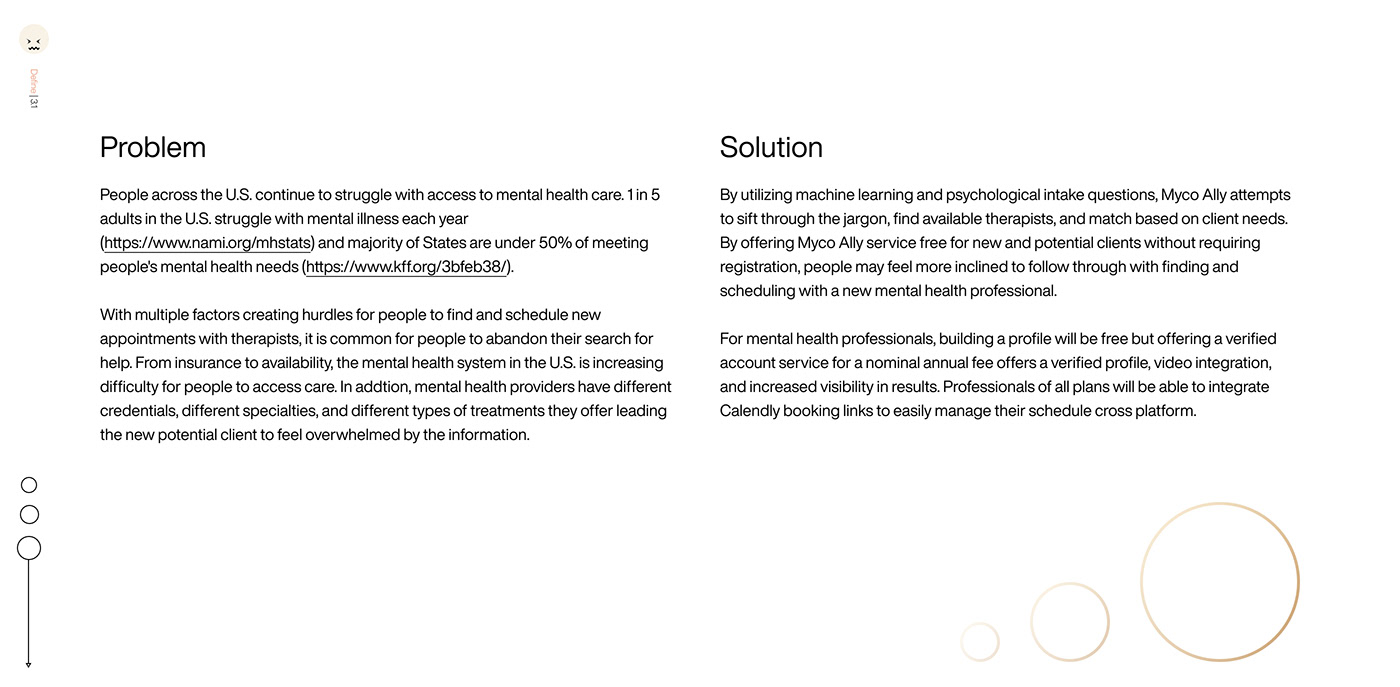 best Case Study design system design thinking mental health user experience ux ux/ui web app product design