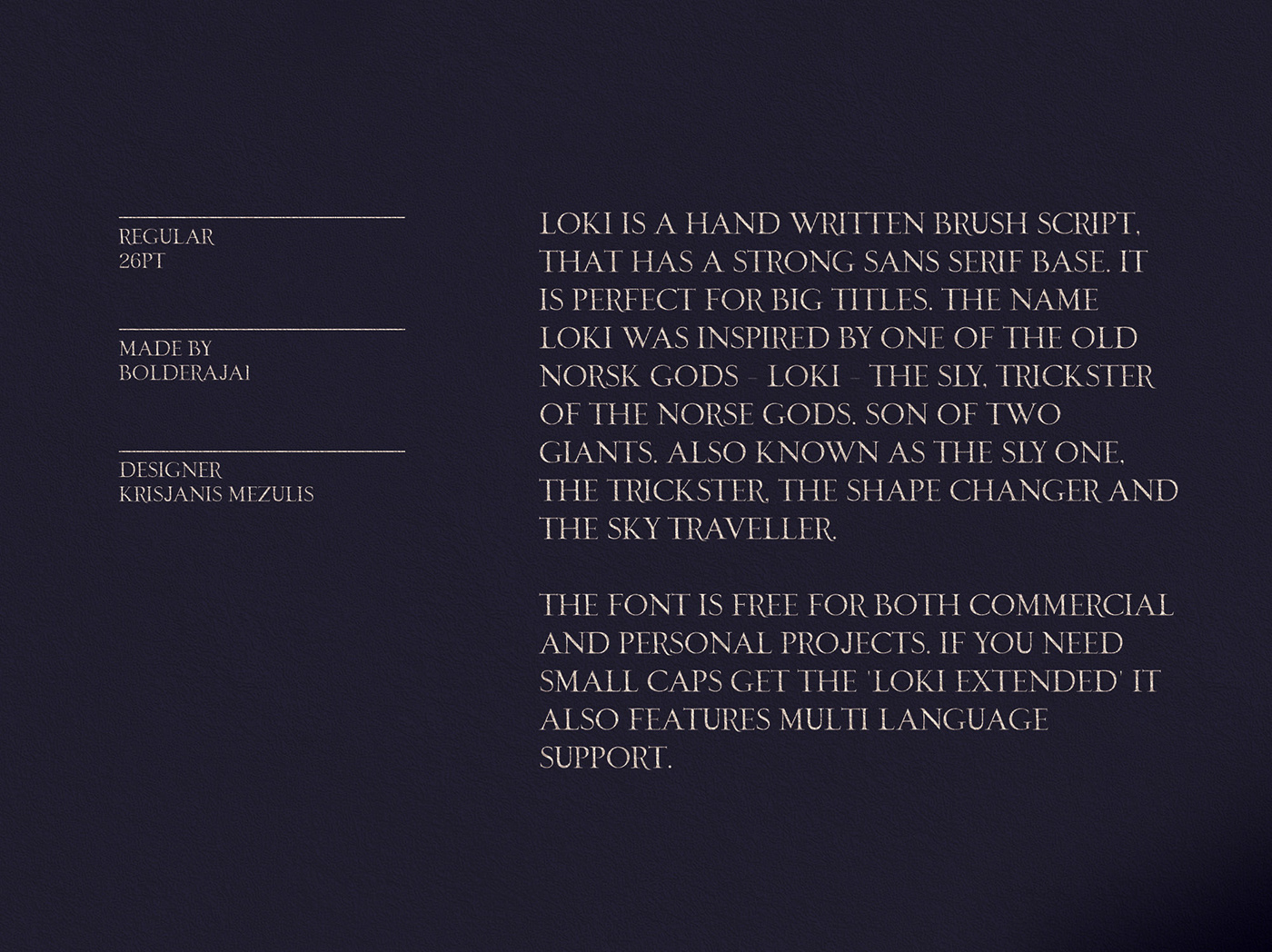 Loki - Free Sans Serif Brush Font on Behance
