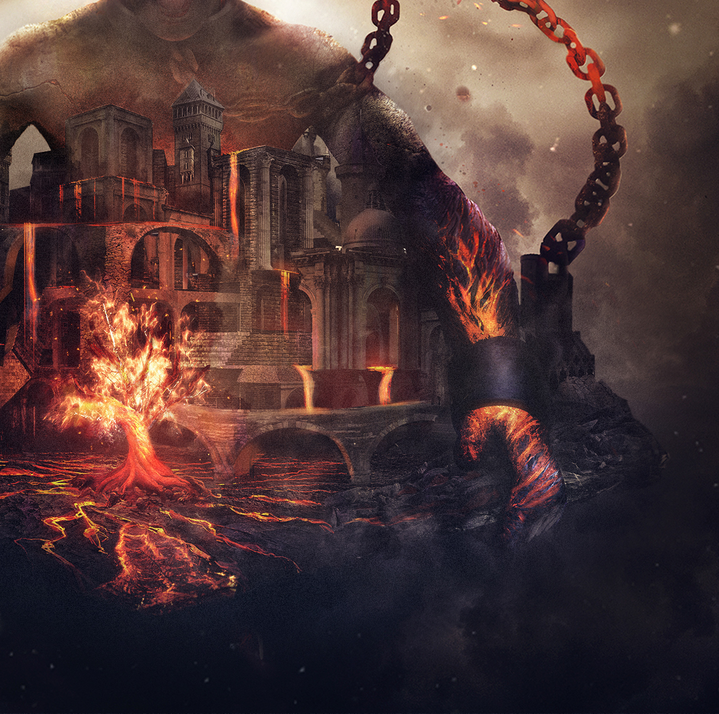 lava fire creation arch #Ps25Under25 Ps25Under25 photoshop