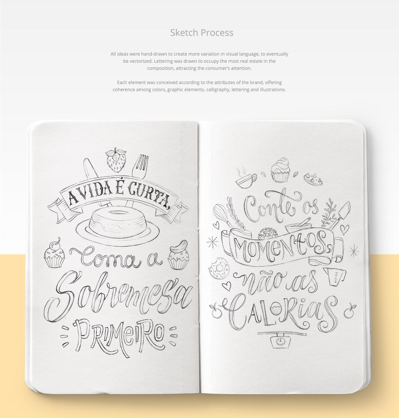 Packaging ILLUSTRATION  art Calligraphy   caligrafia Ilustração Icones Latas Leite Moça lettering