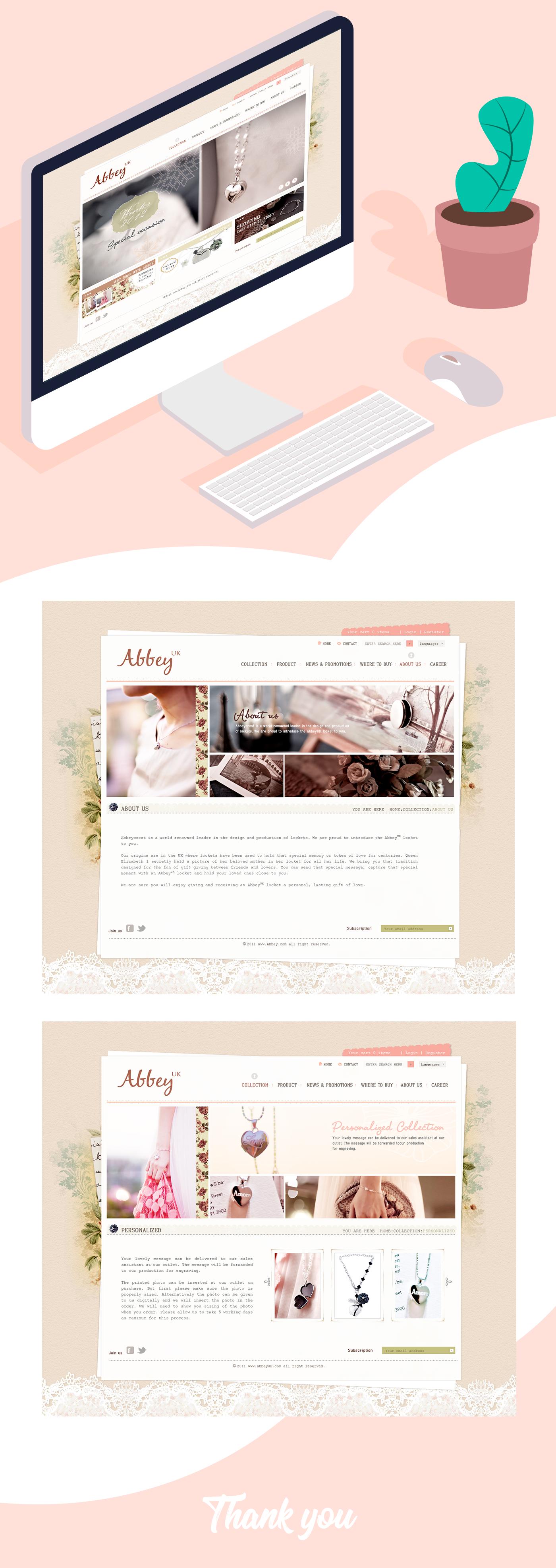 Web Design  graphic design  sweet design