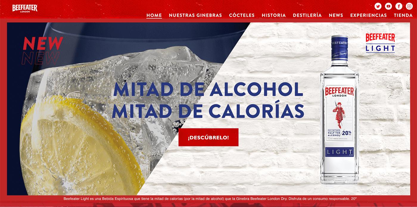 alcohol art direction  beefeater light campaign drinks gin ice Juniper lemon set design