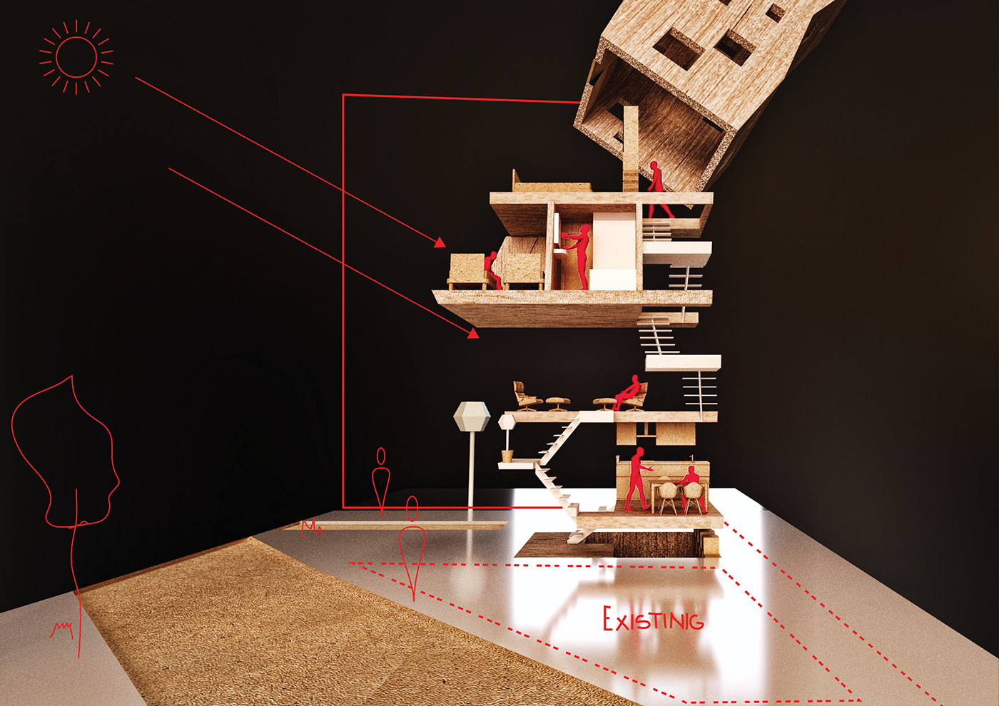architecture house home japan model