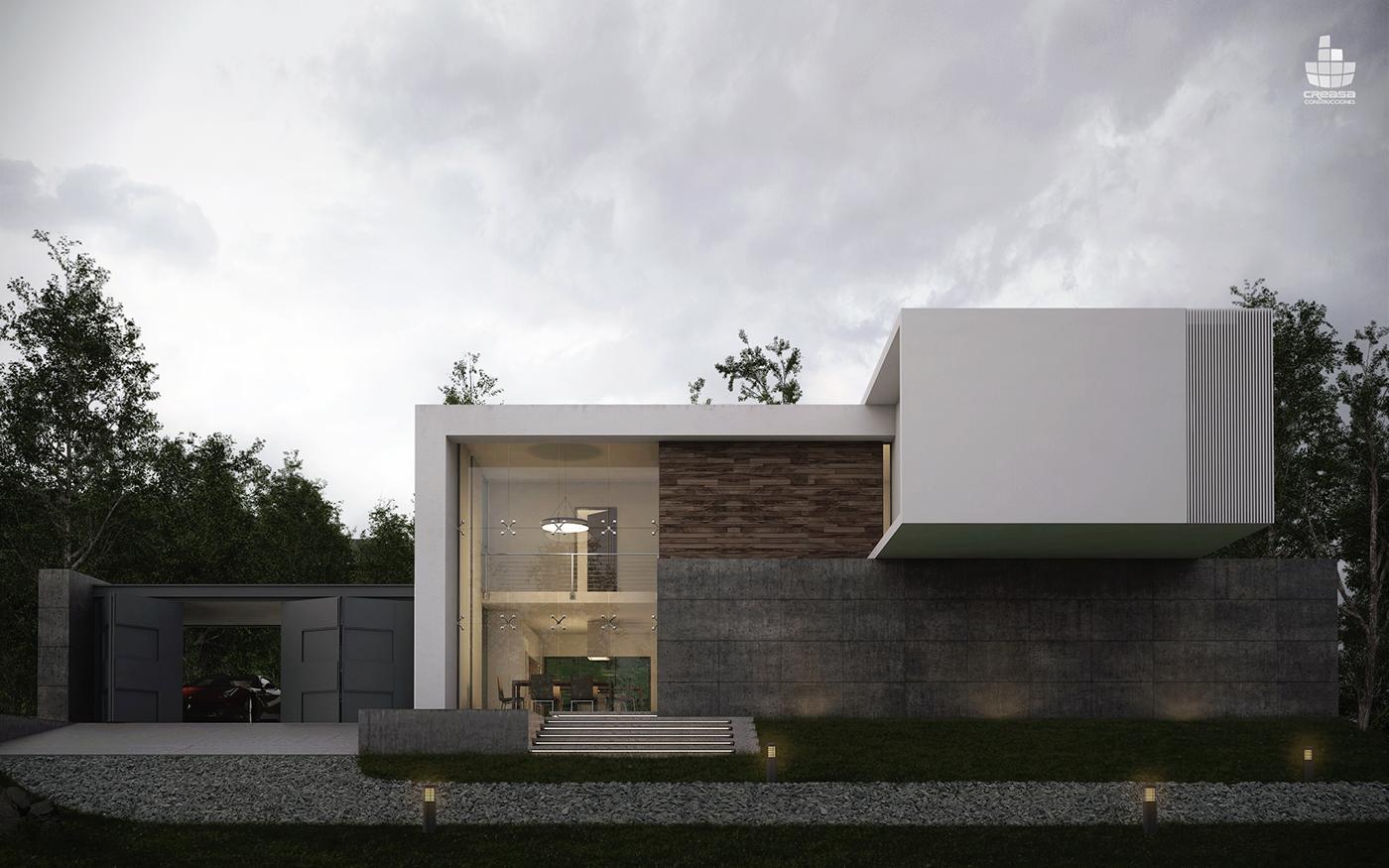 Domus saltus on behance - Arquitectura minimalista ...