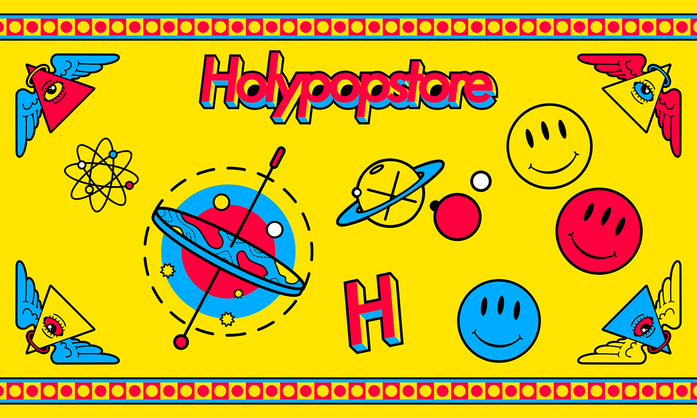art doodle drawings graphics holy Holypop ILLUSTRATION  pop sticker stickers