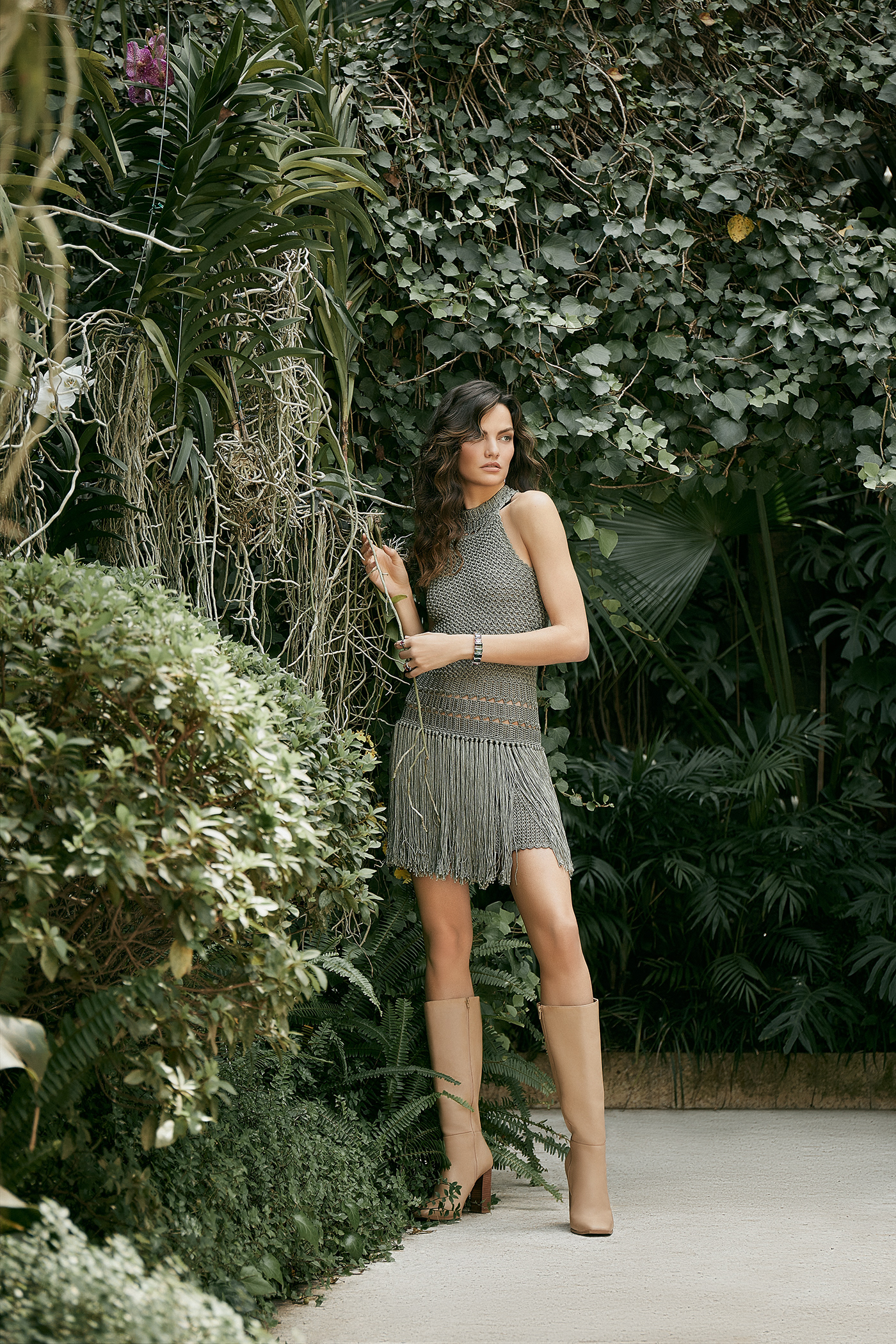 campaign Fashion  garden highend magazine model photoshoot photoshop retouch