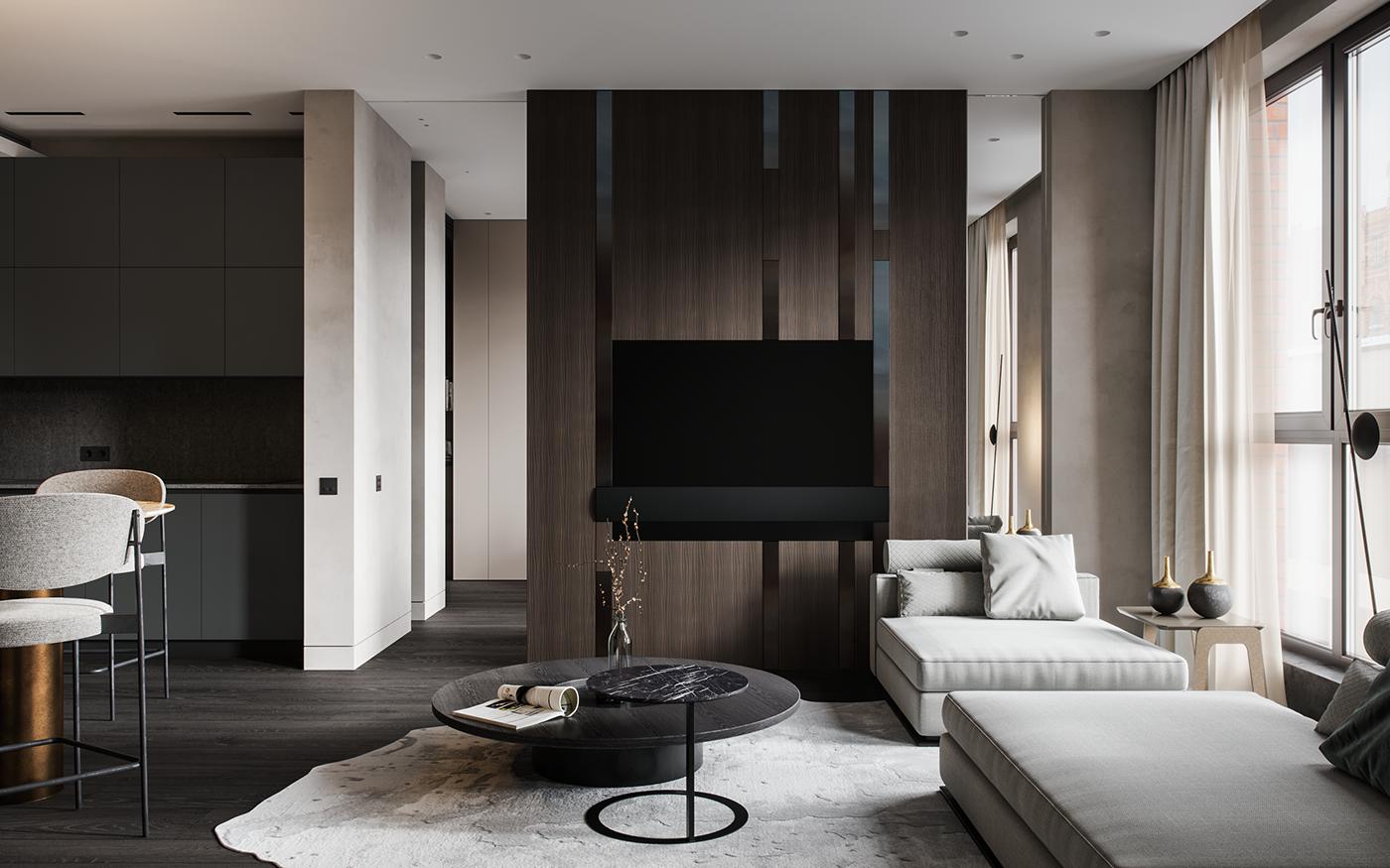 interior design  apartment modern contemporary architecture mops