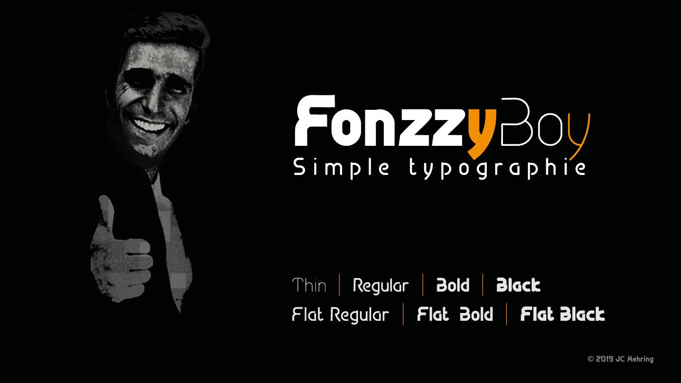 font Typographie typo simple Baton graphisme