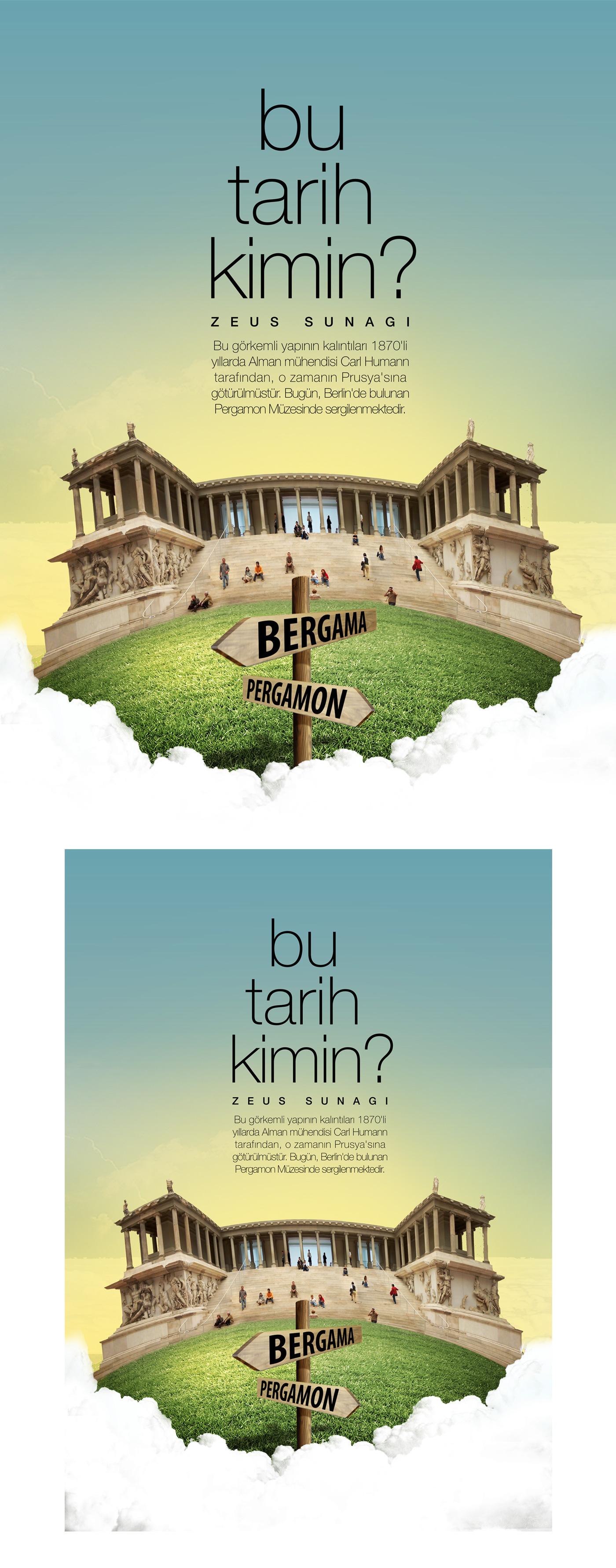 bu tarih kimin Bergama pergamon zeus poster hasan calp