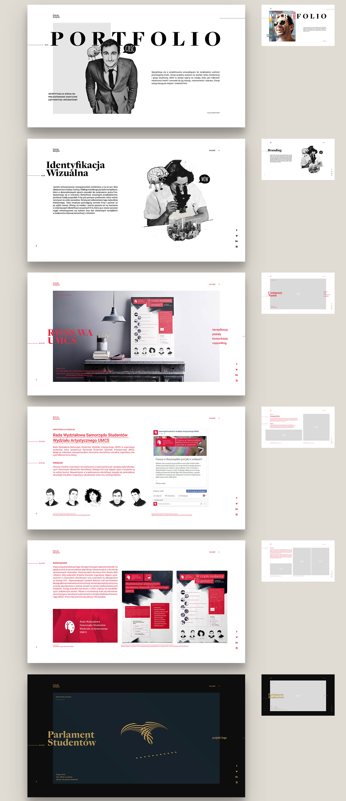 free minimalistic portfolio