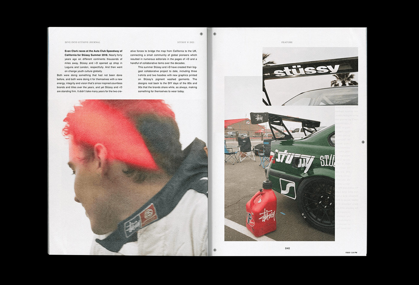 editorial design  Layout streetwear stussy typography   art direction  cover design magazine print branding