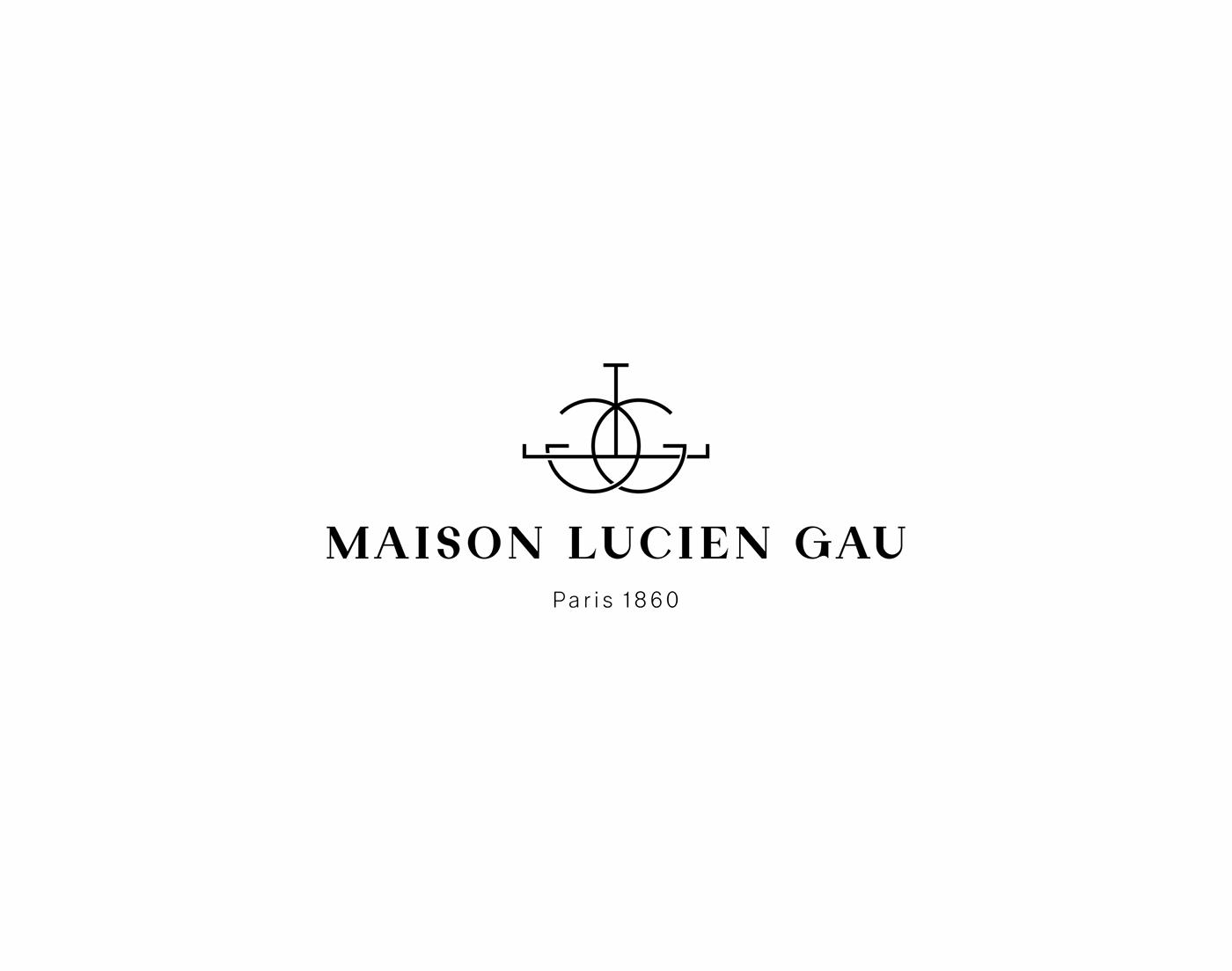 Maison lucien gau brand identity on behance for Maison brand
