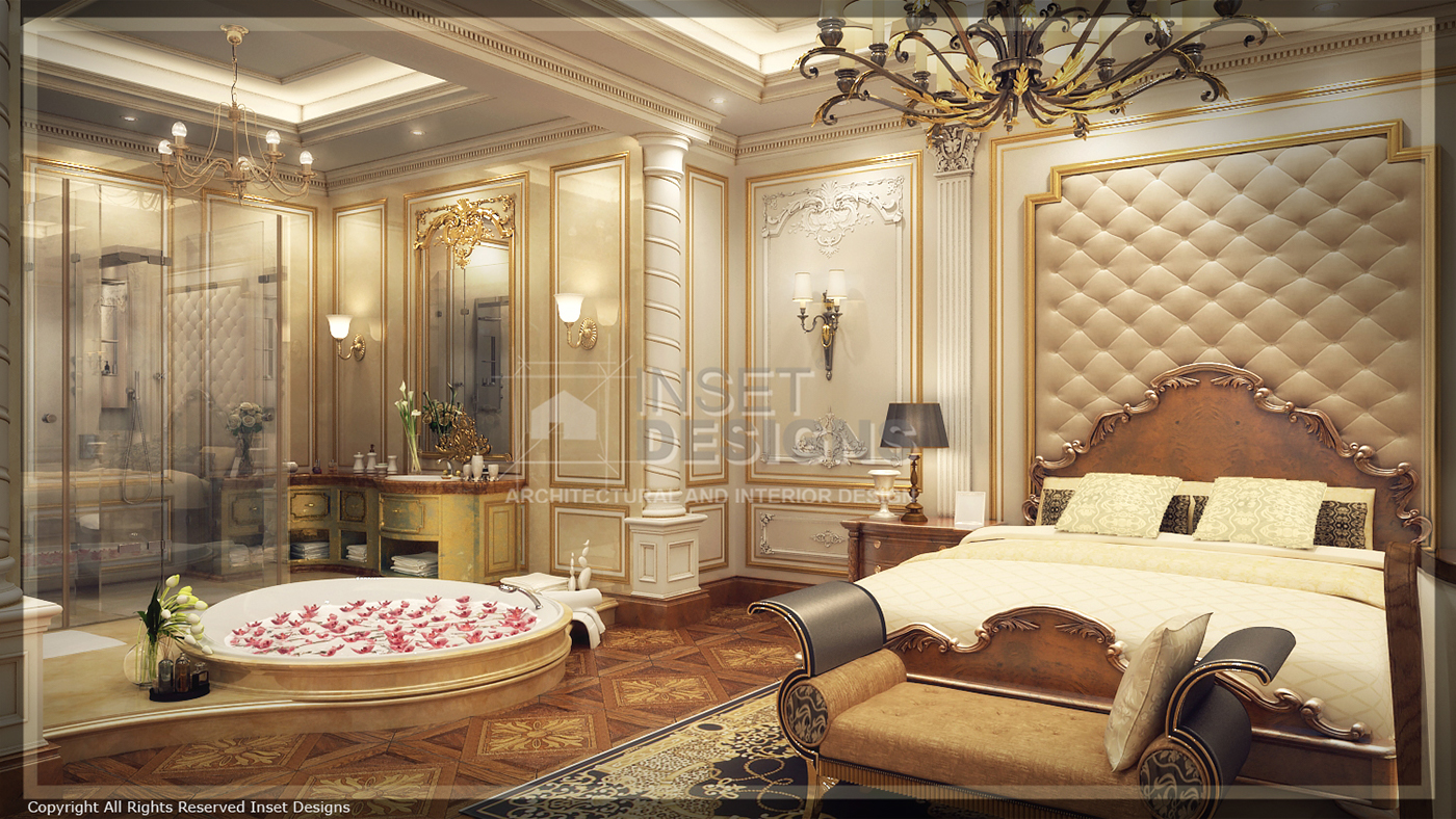 Royal Master Bedroom on Behance