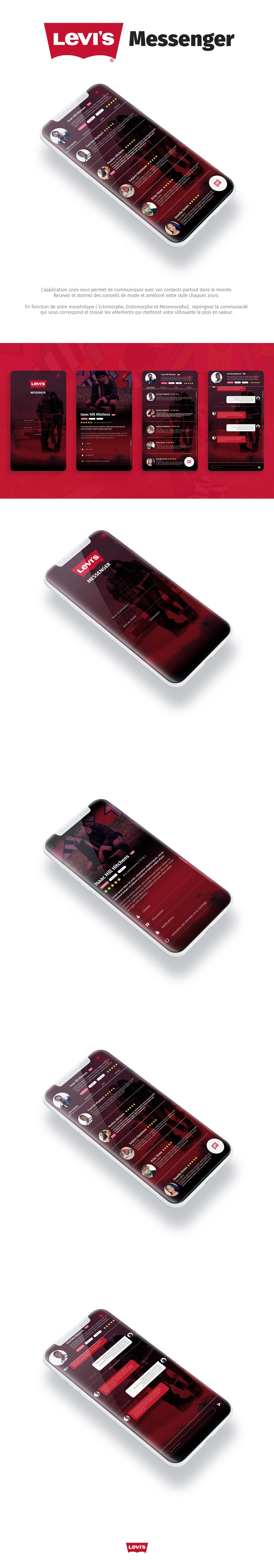 levis design messenger application Web digital numérique