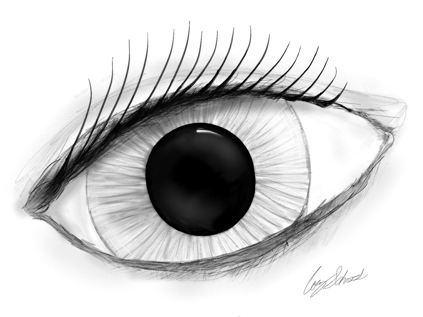 優秀的24個手繪眼睛欣賞