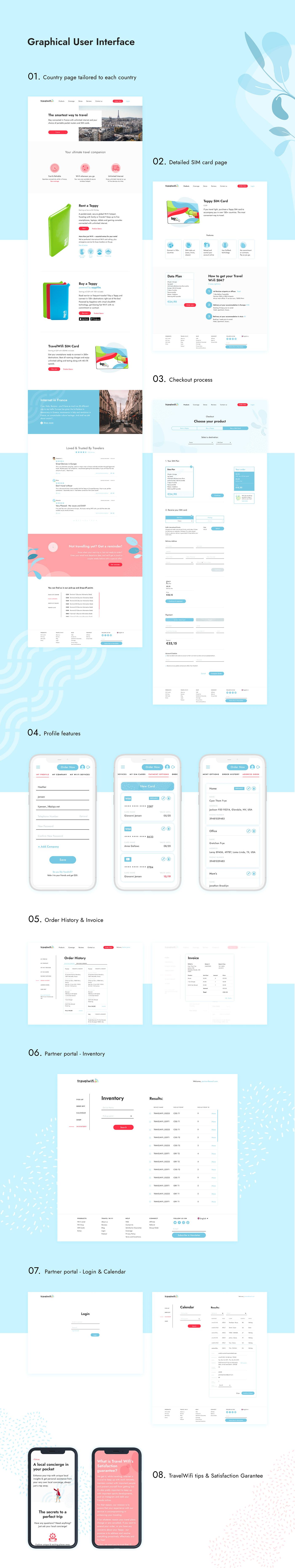 commerce design e-commerce imaginary cloud Internet product design  Travel UI ux wifi
